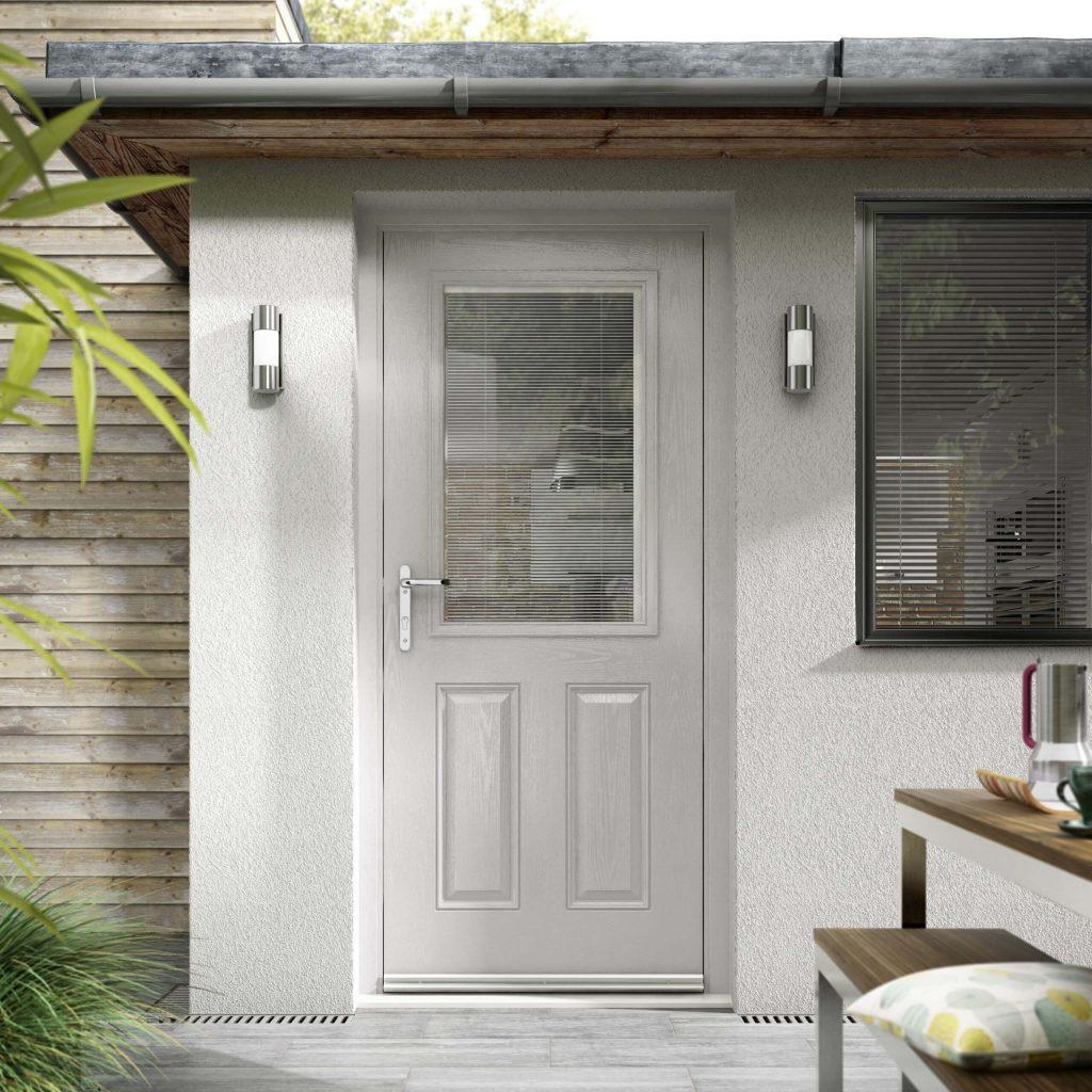 newly installed back composite door