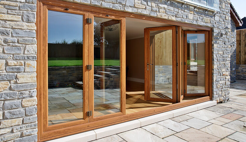 stunning new bi-folding uPVC back door