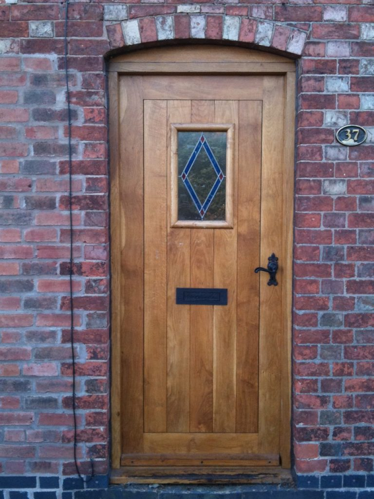 oak timber high quality back door